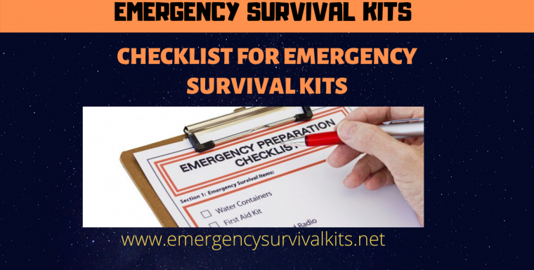 Checklist for Emergency Survival Kits